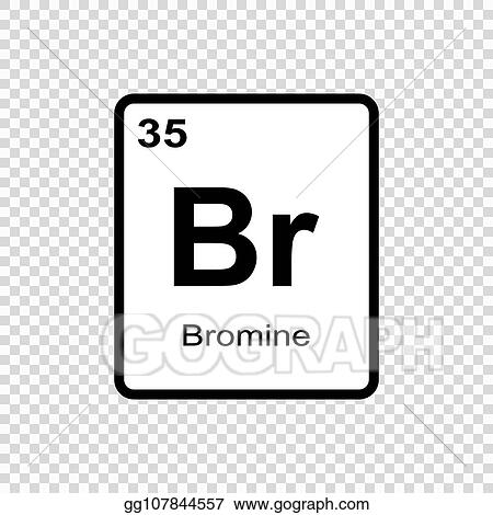 Vector Art Chemical Element Bromine Eps Clipart