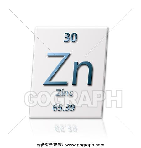 Stock Illustration Chemical Element Zinc Clipart Gg56280568 Gograph