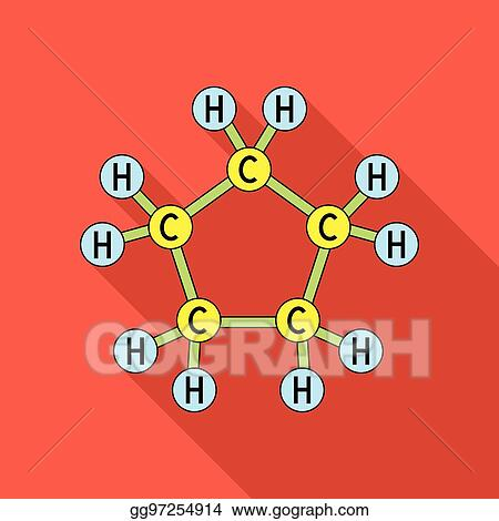 Vector Stock Chemical Oil Formulaoil Single Icon In Flat Style