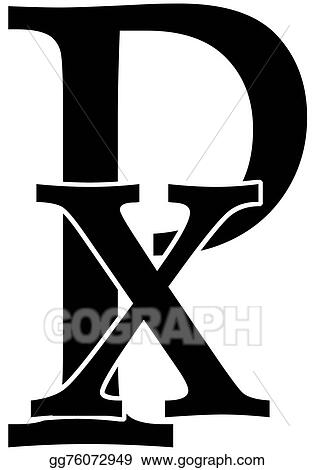 Stock Illustration Chi Rho Clip Art Gg76072949 Gograph