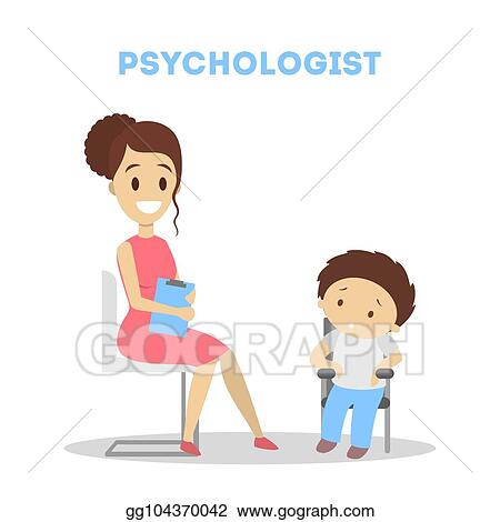 Clip Art Vector Child At Psychology Stock Eps Gg104370042 Gograph