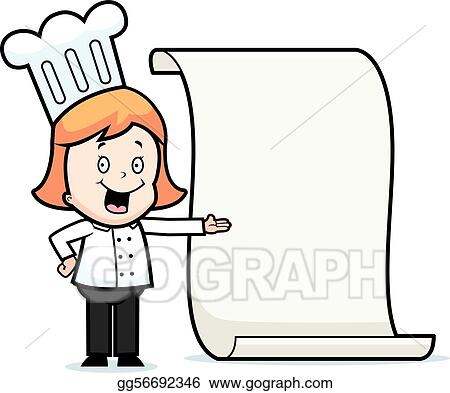 vector art child chef menu clipart drawing gg56692346 gograph rh gograph com menu clipart gratuit menu clip art free