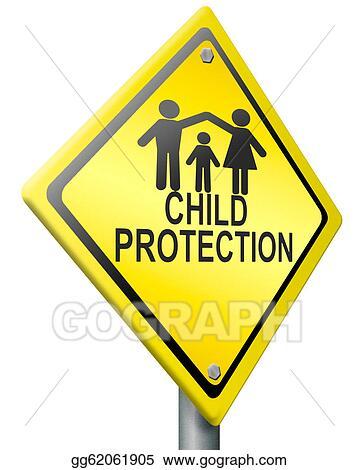 Stock Illustration Child Protection Clipart Illustrations