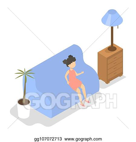 Vector Clipart Child Sitting On The Couch In Psychologist Office