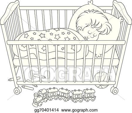 Vector Stock Child Sleeping Clipart Illustration Gg70401414 Gograph