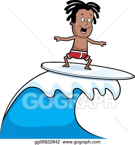 eps illustration child surfing vector clipart gg56822842 gograph rh gograph com Surfing VW Bus Clip Art Surfing Wave Clip Art