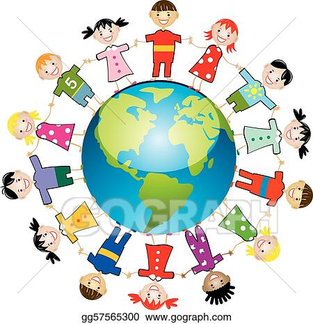 vector art children around the world clipart drawing gg57565300 rh gograph com Around the World Clip Art Borders Food around the World Clip Art
