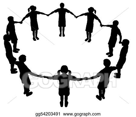 Drawing Children Circle 2 Clipart Drawing Gg54203491 Gograph