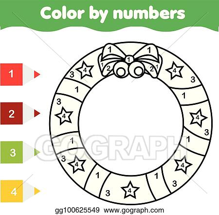 graphic relating to Christmas Numbers Printable named Vector Clipart - Young children useful match. coloring web site