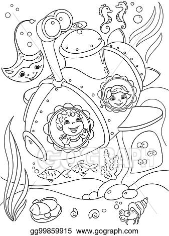 Submarine coloring page | Free Printable Coloring Pages | 470x337
