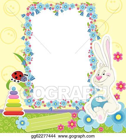 EPS Illustration - Children frame with rabbit. Vector Clipart ...