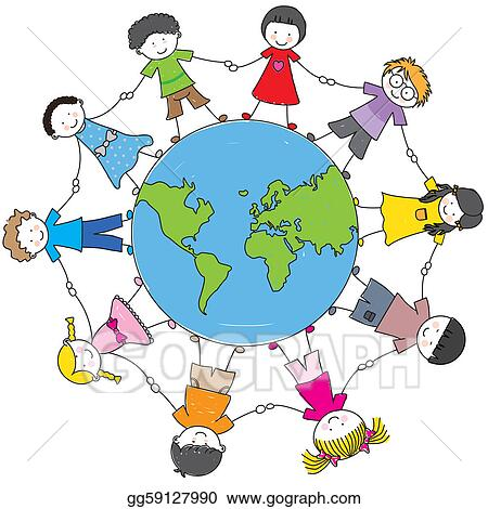 Eps vector children from different cultures stock clipart eps vector children from different cultures holding hands around the ball world stock clipart illustration gg59127990 publicscrutiny Choice Image