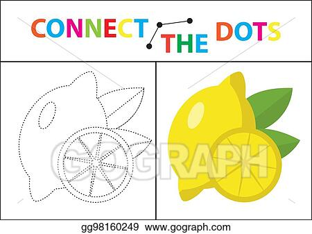 Connect The Dots Picture For Children Of Preschool Age Circle On Dotted Line And Paint Coloring Page Vector Illustration