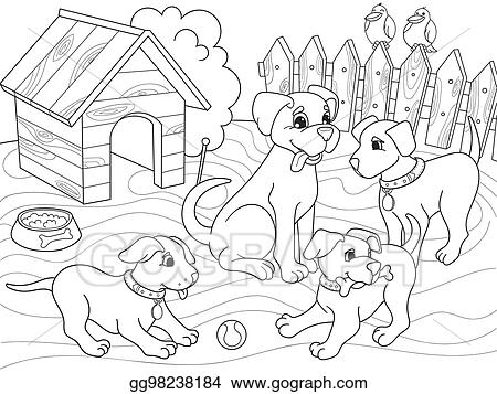 Vector Illustration - Childrens coloring book cartoon ...