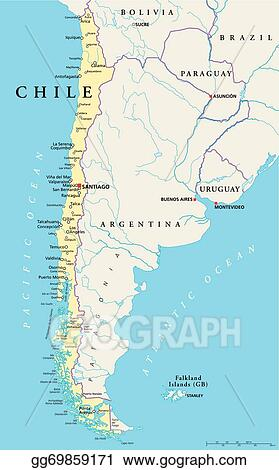 Vector Stock Chile Political Map Clipart Illustration - Political map of chile
