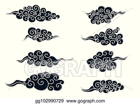 Vector Art - Chinese clouds  Clipart Drawing gg102990729