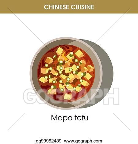 Vector Art - Chinese cuisine mapo tofu traditional dish food