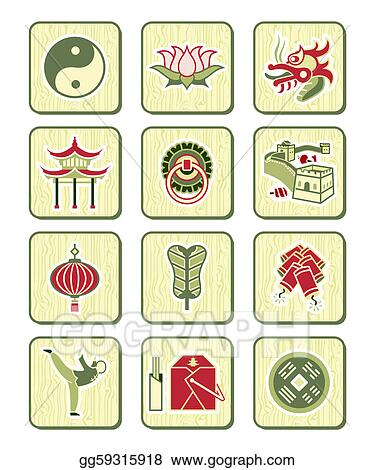 Vector Art Chinese Icons Bamboo Series Eps Clipart Gg59315918