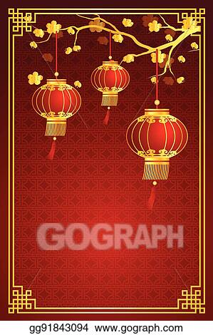 eps illustration chinese lantern template vector clipart