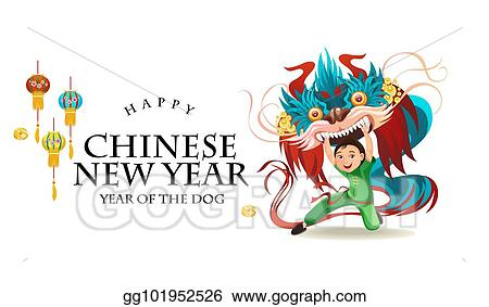 5e7844549 Chinese Lunar New Year Lion Dance Fight isolated on white background, happy  dancer in china traditional costume holding colorful dragon mask on parade  or ...