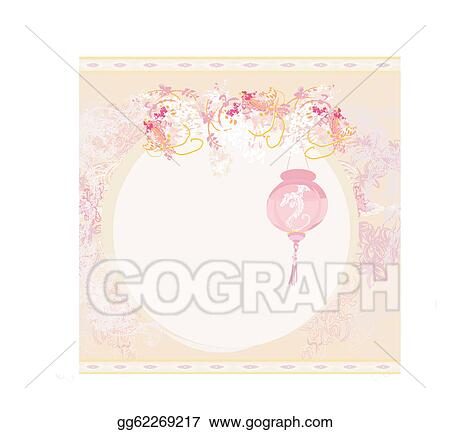 Vector Art - chinese new year card . EPS clipart gg62269217 - GoGraph