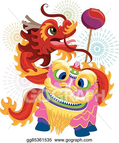 chinese new year lion dragon dance