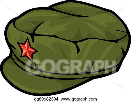 vector illustration chinese red star cap mao style cap eps rh gograph com Bone Collector Hats Party Hat Clip Art