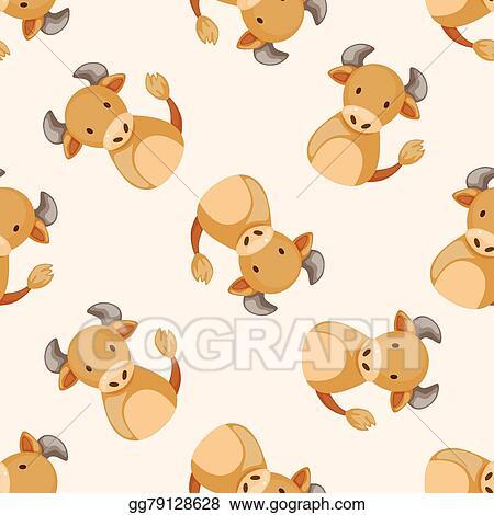 Vector Illustration - Chinese zodiac ox theme elements  EPS