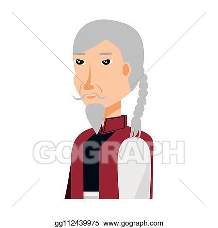 Vektor Clipart Chinesischer Alter Mann Mit Traditionelles Kostum Vektor Illustration Gg112439975 Gograph