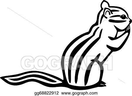 vector art chipmunk eps clipart gg68822912 gograph rh gograph com chipmunk clipart black and white chipmunk cheeks clipart