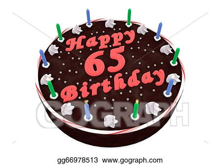 Chocolate Cake For 65th Birthday