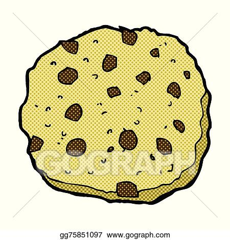 Eps Vector Chocolate Chip Cookie Comic Cartoon Stock
