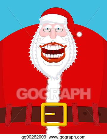 clip art vector chortle santa claus broad smile large mouth