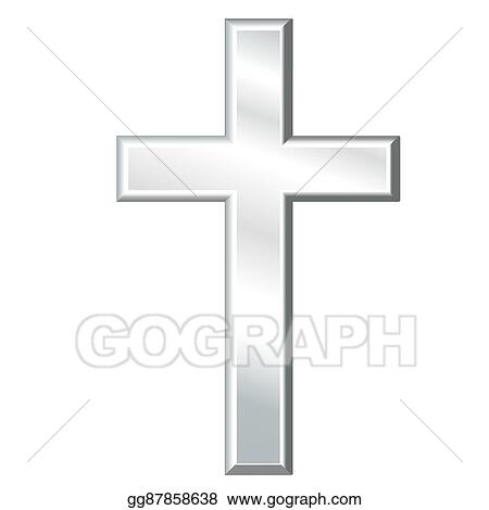 Eps Vector Christian Cross Silver Crucifix Stock Clipart