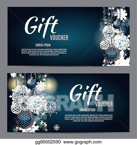 Eps Vector Christmas And New Year Gift Voucher Discount Coupon