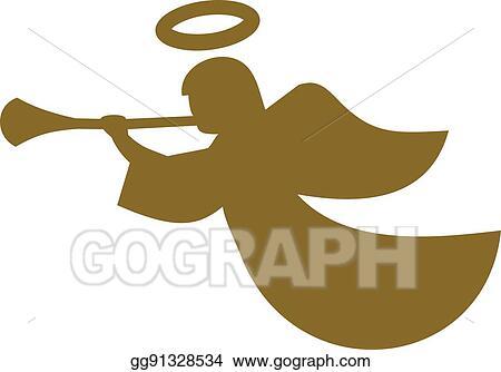 vector stock christmas angel stock clip art gg91328534 gograph rh gograph com Christmas Ornament Clip Art Singing Christmas Angels Clip Art