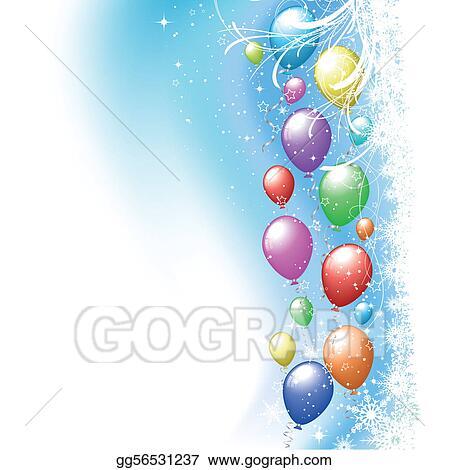 Eps Vector Christmas Balloons Stock Clipart Illustration