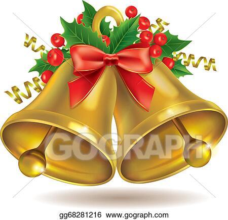 Christmas Bells Clipart.Vector Art Christmas Bells Clipart Drawing Gg68281216