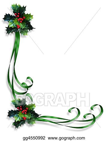 christmas border with fir tree vector image christmas card green