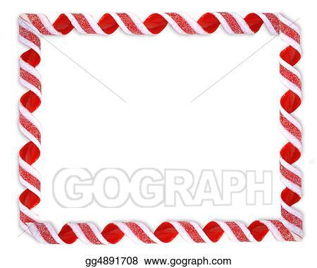 stock illustration christmas border ribbon candy clipart rh gograph com