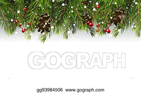 EPS Vector - Christmas border. Stock