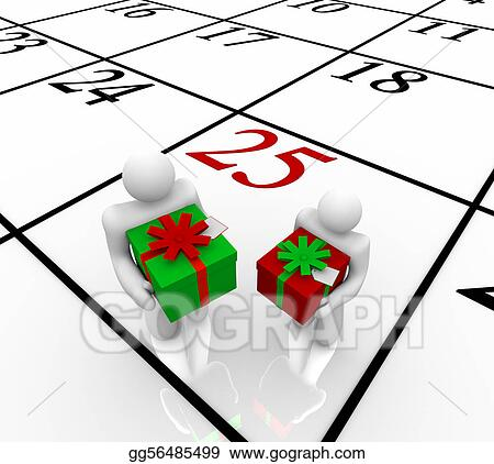 Exchanging gifts clipart christmas
