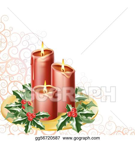 Christmas Candles Clip Art Royalty Free Gograph