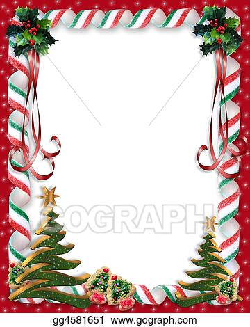 Christmas Candy And Tree Border
