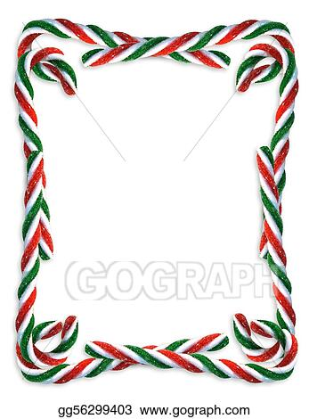 Stock Illustration - Christmas candy cane border. Clip Art ...
