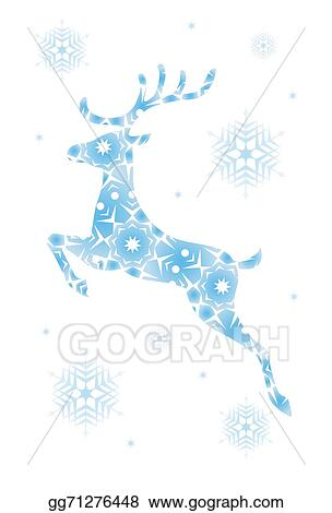 Reindeer Christmas Cards Drawings.Drawings Christmas Card With Reindeer Stock Illustration
