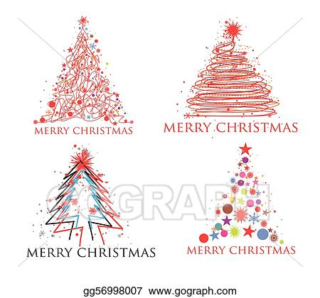 Colorful Christmas Ornaments Drawings.Vector Art Christmas Colorful Design Clipart Drawing