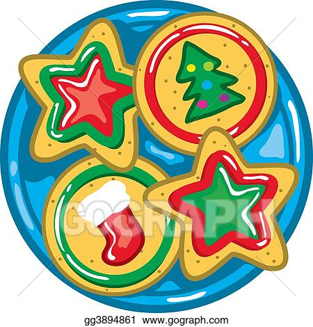 Christmas Cookies Clipart.Drawing Christmas Cookies Clipart Drawing Gg3894861 Gograph