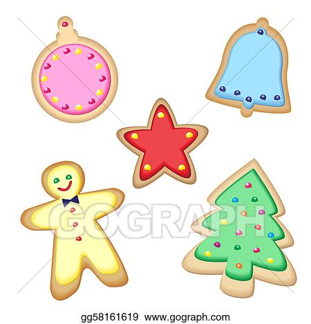 Christmas Cookie Clipart.Vector Art Christmas Cookies Clipart Drawing Gg58161619