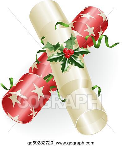 Christmas Cracker Clipart.Eps Vector Christmas Crackers Stock Clipart Illustration